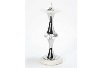 Metal Candle stand w/marble Top