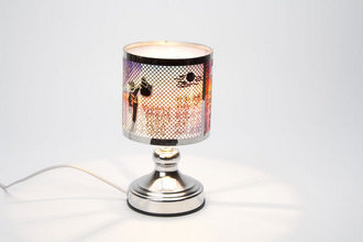 Metal round touch lamp